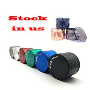O estoque em nós tabaco Herb Moedor Sharpstone 50/55 / 63mm zinc liga moedor metal criter elétrico cores caber qualquer taxa de telefone