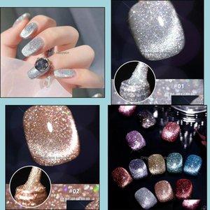 Nail Salon Health & Beautynail Polish Cat Eye Gel Varnish Semi Perman Art 8Ml Glitter Effect Soak Off Uv For Nails Design Drop Delivery 2021