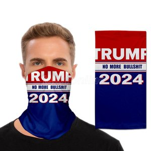 US Presidential Election Trump 2024 Magic Scarf Cycling Masks Motorcycle Scarves Headscarf Neck Women Men Adults Outdoor Face Mask