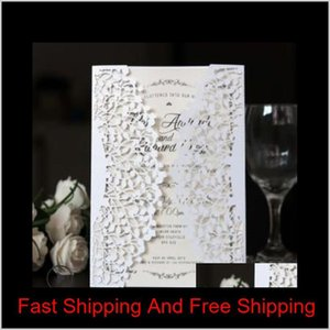 Laser Cut Tree Inviting Card Paper Party Event Supplies Decoration Romantic Wedding Invitation With 21 Colors Ey3Sk 4Pdcb
