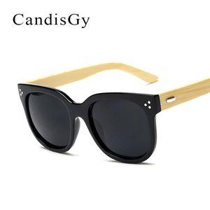 Moda bambu bambu moda óculos de sol fresco homem clássico homens marca deserte gato espelho olho sol óculos masculino fêmea