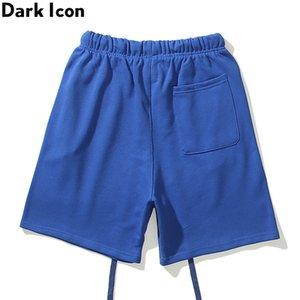 Sombre icône marque hip hop marque hommes shorts harem sweatshorts bleu / gris