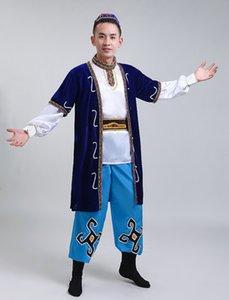 NOUVEAU Hommes Xinjiang Dance Show Vêtements Adulte Hui Uygur Groupe ethnique Minorité ethnique Kazakh Vêtements Vêtements Accessoires