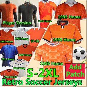 Retro 1988 Niederlande Fussball Jersey 2012 van Basten 2000 2002 1998 1994 Holland 2010 Fußballshirts Bergkamp 1996 Gullit Sneijder Davids