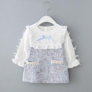 2021 Yeni 6-9-12 18 24-M Uzun Kollu Yenidoğan Kızlar için Moda Tasarım Giysi Bebek Doğum Günü Partisi Prenses Flz3