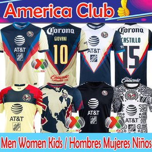 20 21 Club America Soccer Jersey Liga MX 2020 2021 Giovani Henry Martinez Ochoa CamiSas de Futebol Men + Women + Kids Kits Футбольные рубашки Брюки