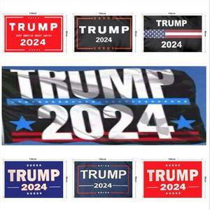 Drapeau Trump 2024 Drapeau des élections Bannière Donald Trump Drapeau Gardez l'Amérique Great Breat Acendez Ivanka Trump Drapeaux 150 * 90cm DHL Ship