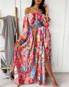 2021 Sparkly Screwised Золотые вечерние вечерние платья с глубокими плиссиями с длинными рукавами Русалка Платье выпускного вечера Дубай Африканское вечеринка