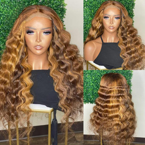 Malaysia Deep Wave 13x6 Lace Front Human Hair Wigs with Baby Hair Remy Full Lace Wigs for Black Women Natural Hairline