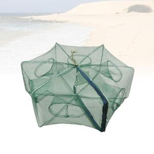 Pieghevole Bait Cast Mesh Trap Net Portable Pesca Pesca Atterraggio Net Gamberetti Gabbia per Pesci Aragosta Gamberetto Gamberetto Minnow Grayfish Granchio Galleggiante
