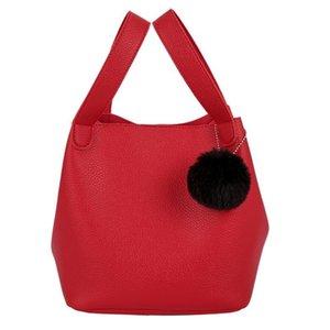 ISHOWTIENDA Women Messenger Fashion Leather Bag Casual Capacity Travel Bucket Bag Handbag Handbag Simple Shoulder Large Solid Rudjd