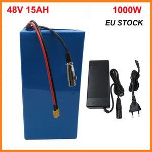 48V 15AH литий Ebike Battery Battery Battery 1000W 13S 48 V 750 Вт Электрический велосипед Scooter Bateria XT60 ЕС с 54.6V 2A зарядное устройство