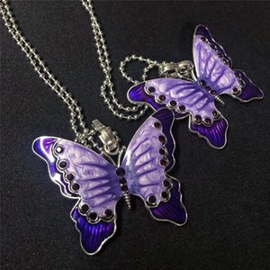 Restore Ancient Ways The Butterfly Necklace Pendant Chain of Clavicle Beads Metal Titanium Trendy Insect Cn(Origin)