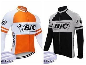 BIC Team Vélo Thermique thermique Jersey Jersey à manches longues Vélo à manches longues Gardez des vêtements de plein air chaud Vêtements Vélo Vêtements Ciclismo Maillot 102204
