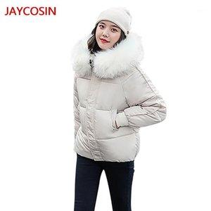 JAYCOSIN Women Winter Warm Coat Button Hooded Thick Warm Loose Jacket Short Overcoat L4009021