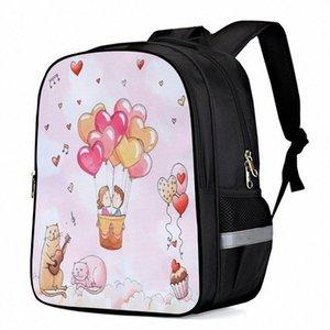 Valentine Balloon Cake Cat Music Love Laptop Backpacks School Bag Child Book Bag Sports Bags Bottle Side Pockets 93DV#