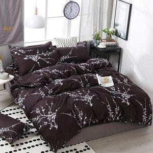 Подвесные комплекты Parure de Lit 2 Persons Luxury Цветочные напечатанные Пододеяльник Простой Размер King Size Установите Утешитель Кровать Бельни Одноместный