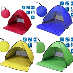 Tenda da spiaggia Ultralight Tenda pieghevole Pop-up Automatic Open Tent Famiglia Turish Pesce da campeggio Anti UV completamente sole parasole 5 colori 273 x2