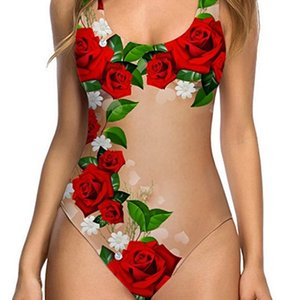 Yeni Seksi Meyve Kabuğu Kadın Tek Parça Bikini Renkli Mayo