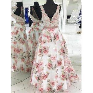 Womens Boho Long Maxi Dress Summer Sexy Floral V neck Sleeveless Evening Party Dresses Women Elegant Gowns