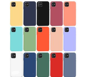 10Pcs Fpr iphone 12 Soft Liquid Silicone Phone Case For iPhone 11 Pro Max XR XS MAX X 8 7 6 6S Plus SE 2Shockproof Back Cover