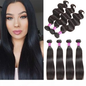 Wholesale Brazilian Virgin Hair Straight Human Hair Weaves Vendors bulk Body Wave Human Hair Bundles Extensions Natural Color Free Shipping