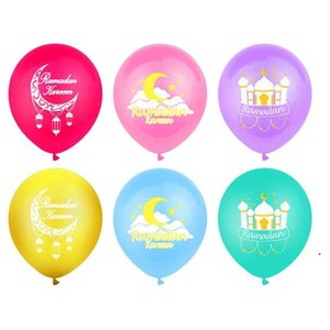 Palloncini Ramadan 12inch Latex Eid Mubarak Balloons Kareem Ramadan Mubarak Musulmano Musulmano Festival islamico Party Decorazioni fai da te DHA3688