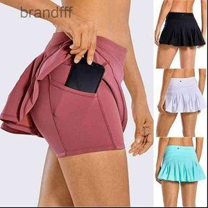 Womens Short Women 2 In 1 Tennis Skorts Athletic Sports Running Pleated Golf Skirts Shorts X7YA Drop Good Quality