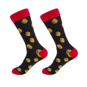Men's Socks Daily Cotton Blend Mid Calf Keep Warm Autumn Winter Birthday Gift Food Pattern Casual Adults Men Fashion Funny Elastic