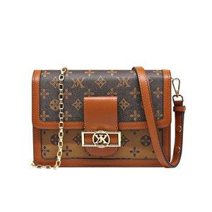 الرجعية ملف حامل قفل مزلاج سلسلة حقيبة متعددة الطبقات رسول حقيبة الكتف حقيبة السيدات crossbody 2021 الصيف العصرية الجديدة