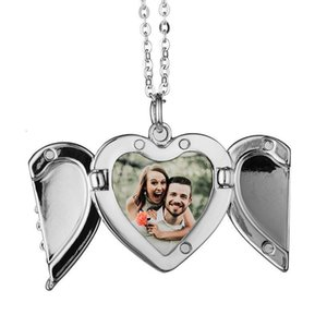 Big Wings Necklaces Pendants Sublimation Blanks Car Pendant Angel Wing Rearview Mirror Decoration Hanging Ornaments DHD3925