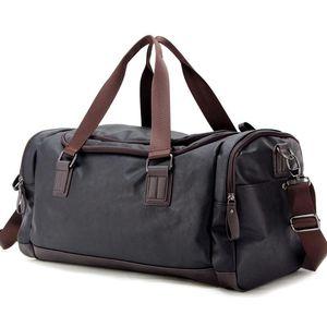 Duffel Çantalar Varış Deri Seyahat Lüks Erkekler Büyük Kapasiteli Taşınabilir Erkek Omuz Erkek Çanta Vintage Duffle Çanta