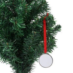 Sublimation Christmas Ornaments Metal Heat Transfer Printing Socks Star Pendants Blanks Customized Gift Christmas Tree Diy Decoration with Blank Aluminum Sheet