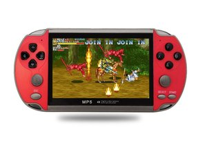 X7 핸드 헬드 게임 콘솔 플레이어 4.3 인치 LCD 디스플레이 8GB 더블 로커 6000 클래식 게임 레트로 미니 포켓 MP5 비디오 게임