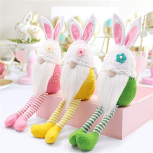 Long Legged Easter Bunny Gnome Decoration Easter Faceless Doll Easter Plush Dwarf Home Party Decorations Kids Toys