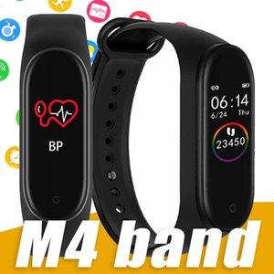 Nuovo Braccialetto intelligente M4 Monitor della frequenza cardiaca del tracker IP67 Waterprooof Smart Watch per il telefono Android universale con scatola al minuto