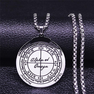 Good Luck Key of Solomon Pagan Stainless Steel Necklace Jewelry Making Pentagram Wicca Charms Amulet Talisma bijoux NX33S03