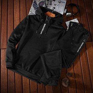 MensClothes Casual Esportes Hoodie Sports Calças Casuais Primavera e Outono Conjunto Com Capuz Head Boutique 2 Piece Set