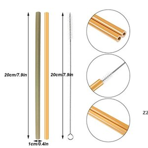 Reusable Bamboo Drinking Straw 100% Natural Eco-Friendly Beverages Straws Cleaner Brush For Home Party Wedding Bar Drinking Tools HWE7124