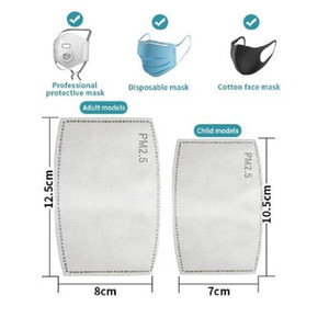 Cheap Hot pm2.5 Filter 5 Layer Anti Haze Disposable Mouth Gasket Activated Carbon replace Mask pad