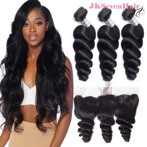 Unprocessed Virgin Malaysian Human Hair 3 Bundles With 13x4inch Lace Frontal Water Wave 12A Top Grade Brazilian Peruvian Indian Extension Weave Wefts