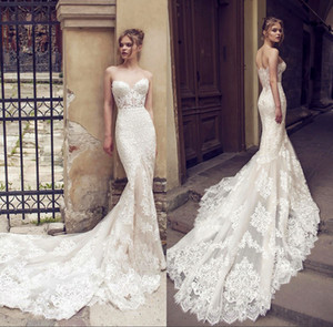 2021 Backless Lace Mermaid Wedding Dress Gorgeous Sweetheart Trumpet Wedding Gowns Bridal Dress Vestido De Noiva Robe De Mariage