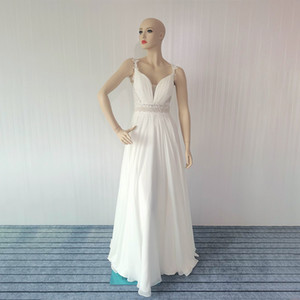 Evening dress, female, white, small tail party, elegant sling, V-neck party, annual meeting, slim