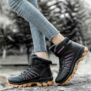 Winter Warm Women Hiking Snow Shoes Boots Keep Plush Ankle Boots Female Platform Sneakers Ladies Wedge Waterproof Mujer Botas P1aF#