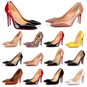Christian Louboutin CL Dress shoes high heels So Kate red bottoms womens Bred Stiletto 8 10 12CM Genuine Leather Point Toe Pump loafers Rubber