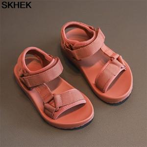Skhek 2021 meninos sandálias crianças sandálias crianças sapatos de borracha escola sapatos respirável do pé aberto casual menino sandal 210306