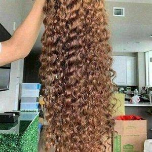 매혹적인 13x4 레이스 프론트 가발 곱슬 인간의 머리 가발 처녀 인간의 머리 가벼운 회색 흰색 금발