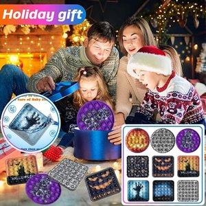 Halloween Party Gifts Relieve Stress Fidget Toys Rainbow Bear Push Bubble Antistress Hand Finger Adult Children Sensory Autism Toy