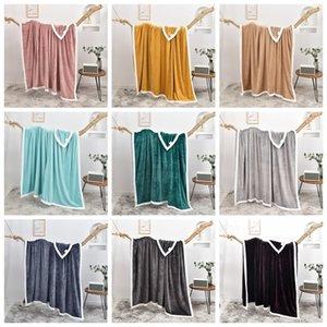 Одеял одеяло молока шерсть утолщение двухстороннего европейского твердого цветного одеяла для четырех сезонов фланелевая мода 10 цветов gyl130
