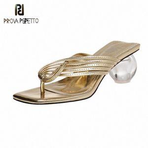 Prova Perfetto Solide Flip Flops Frauen Sandalen 2020 Kugel Fersenpumpen Sommer Strand Hausschuhe Basic Kreuzgürtel Sandalen Schuhe Frau G2IG #